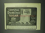 1902 Crystal Domino Sugar Ad - Triumph in Sugar Making