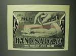 1902 Hand Sapolio Soap Ad - Don't Palm a Substitute