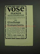 1902 Vose Pianos Ad - We Challenge Comparisons