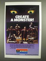 1983 Monogram Monster Model Ad - Wolf Man, Mummy