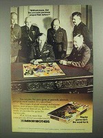 1985 Parker Brothers Risk Board Game Ad - Brilliant!