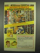 1985 Post Honeycomb Cereal Ad - Sportstakes Spree