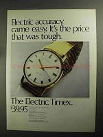 1968 Electric Timex Watch Ad - Accuracy Came Easy