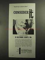 1968 Baltimore County, MD Industrial Development Ad