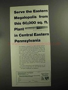 1968 Central Eastern Pennsylvania Ad - Megalopolis