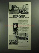 1968 South Africa Tourism Ad - Year-Round Pleasure
