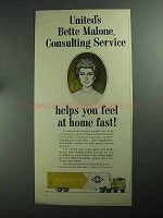 1968 United Van Lines Ad - Bette Malone Consulting