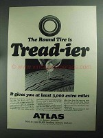 1968 Atlas Plycron Tires Ad - Round Tire is Tread-ier