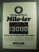 1968 Atlas Plycron Tires Ad - Round Tire is Mile-ier