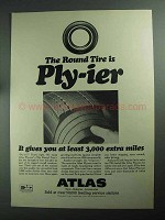 1968 Atlas Plycron Tires Ad - Round Tire is Ply-ier