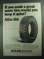 1968 Atlas Weathergard Tire Ad - Great Snow Tire