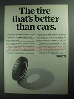 1968 Pirelli Cinturato CN 72 Tire Ad - Better Than Cars