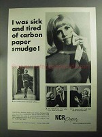 1968 NCR Paper Ad - Tired of Carbon Paper Smudge