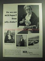 1968 NCR Paper Ad - Do We Use? Does Jelly Shake?