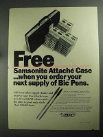1968 Bic Pens Ad - Samsonite Attache Case