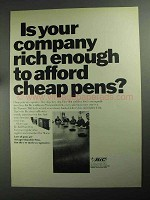 1968 Bic Pens Ad - Is Your Company Rich Enough?