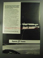 1968 The Bureau of National Affairs Ad - Space & Taxes