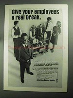1968 American Cancer Society Ad - A Real Break