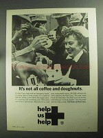 1968 The American Red Cross Ad - Coffee Doughnuts