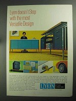 1968 Lyon Office Furniture Ad - Most Versatile Design
