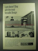 1968 Lyon Office Furniture Ad - Versatile Design