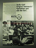 1968 Kelly Services Ad - Helped Automatic Sprinkler