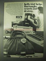 1968 Kelly Services Ad - Helps Burroughs
