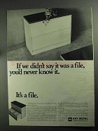 1968 Art Metal Modi-File Lateral File Ad - Never Know