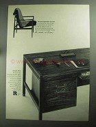 1968 Jens Risom Office Furniture Ad - Total Impression