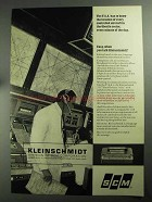 1968 SCM Kleinschmidt 311 Data Printer Ad - F.A.A.