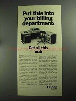 1968 Friden 5610 Computyper Data Processor Ad - Get All This Out