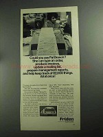 1968 Friden 2201 Flexowriter Ad - Pat Branch