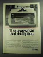 1968 Friden 5005 Computyper Ad - Multiplies