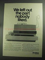 1968 Friden 9020 Postage Meter Ad - Nobody Liked