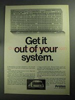 1968 Friden Flexowriter Ad - Get It Out Of Your System
