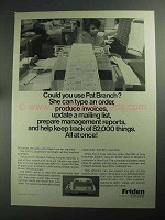 1968 Friden 2201 Flexowriter Ad - Could You Use Pat Branch