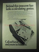 1968 Victor Series 10 Grand Total Calculator Ad