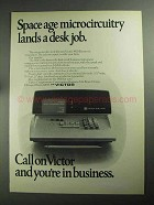 1968 Victor 3900 Electronic Calculator Ad - Space Age