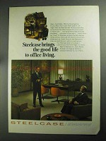 1968 Steelcase Office Furniture Ad - The Good Life