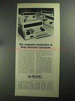 1968 Wang Electronic Calculators Ad - Standardize On
