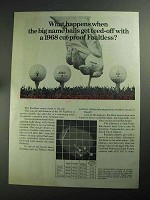 1968 Faultless Golf Ball Ad - Get Teed-Off With