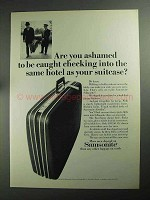 1968 Samsonite Silhouette Two-Suiter Luggage Ad