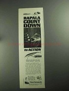 1968 Normark Rapala Fishing Lure Ad - Count Down