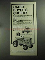 1968 International Harvester Cub Cadet Tractor Ad - Buyer's Choice