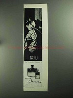 1968 Dana Tabu Perfume Ad - The Forbidden Fragrance