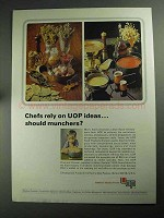 1968 UOP Universal Oil Products Ad - Chefs Rely On