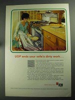 1968 UOP Universal Oil Products Ad - Wife's Dirty Work