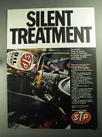 1968 STP Oil Treatment Ad - Silent Treatment