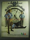 1968 h.i.s. Post-Grad Slacks Ad - Raspberry Pocketwatch