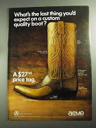 1968 Acme Chapparal Boot Ad - Last You'd Expect